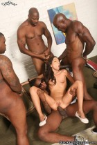 Trinity St. Clair crazy anal gangbang from Blacks on Blondes