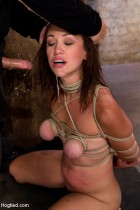 Audrey Rose helpless and forced to orgasm from Hogtied