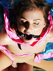 Lily Carter gets roped, gagged, and punished